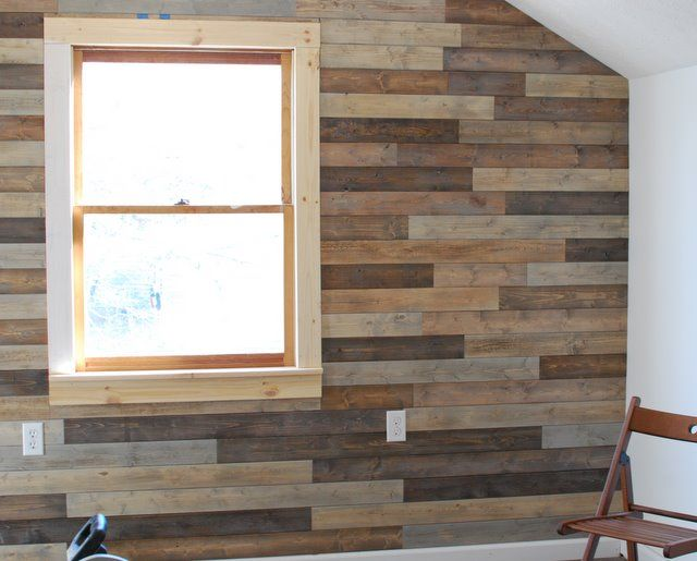 Faux pallet wall for the home pinterest pallets walls and garage design - Wooden bedroom divider ...