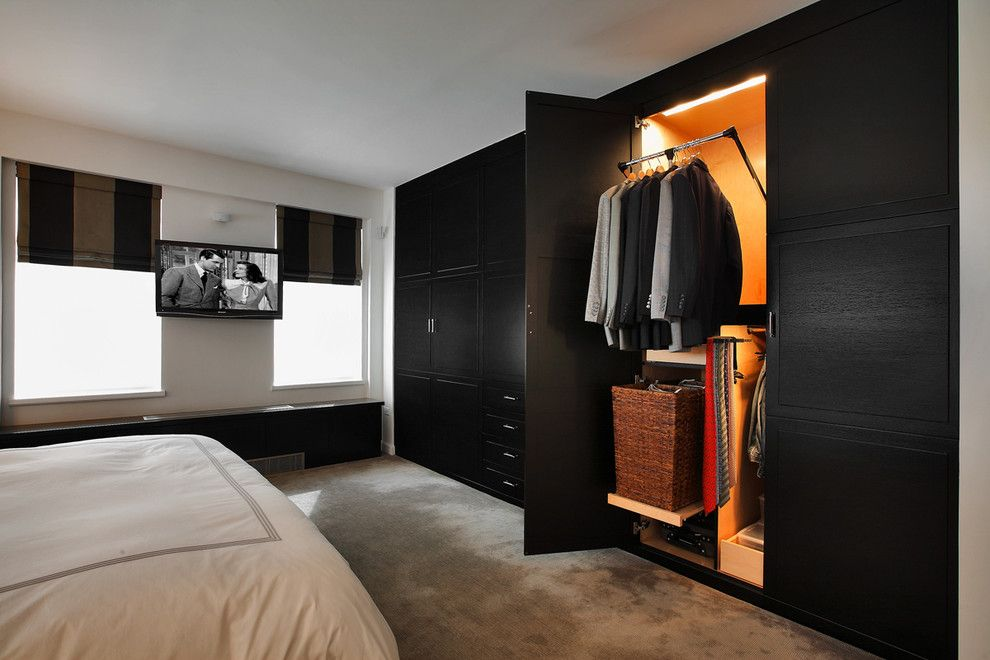 Bedroom Wall Closet Designs Large Black Builtin Wardrobe Closet  House  Pinterest  Kelly