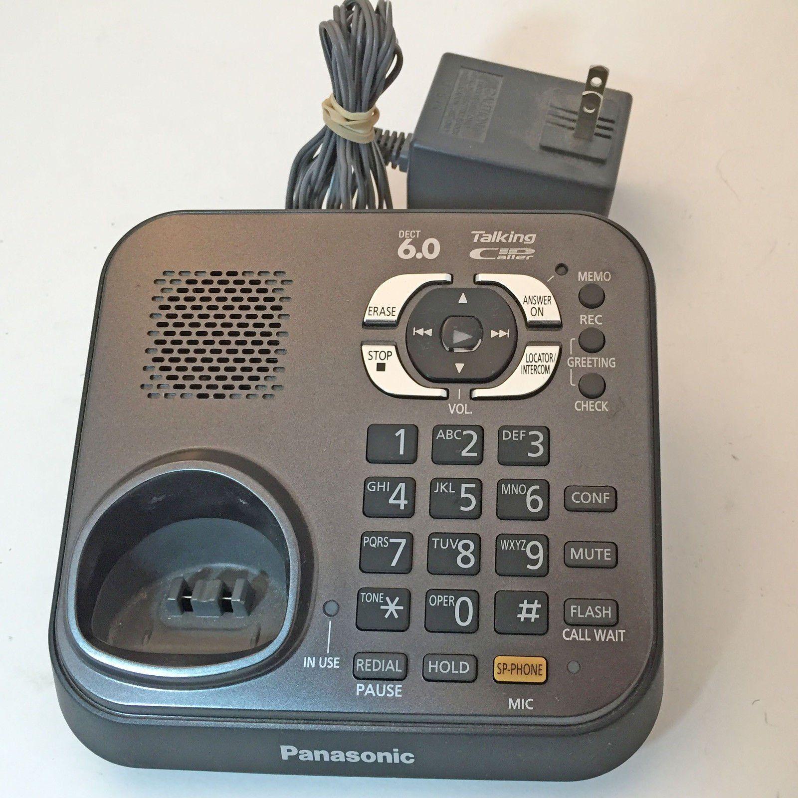 panasonic kx tg9341t phone system main base kx tg9344t with adapter rh pinterest com au Panasonic Kx- Tg270 Sim Panasonic Kx- Tg270 Sim
