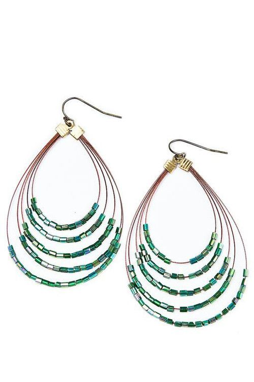 Gear Wire Peacock Earrings, iSanctuary, $15 via boutiika.com
