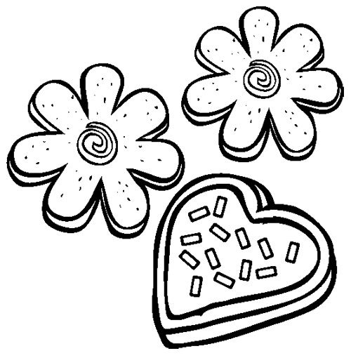Sugar Cookies Coloring Page Kids Coloring Pages Pinterest