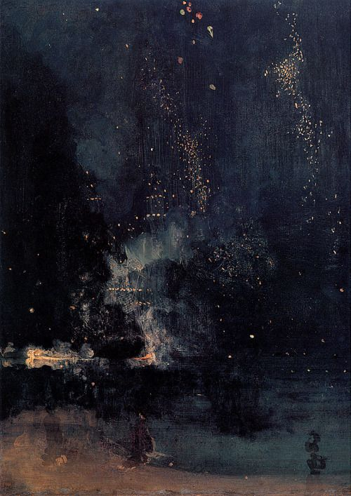 "euphraxia:"" "" Nocturne in Black and Gold: The Falling Rocket, James Whistler"" """