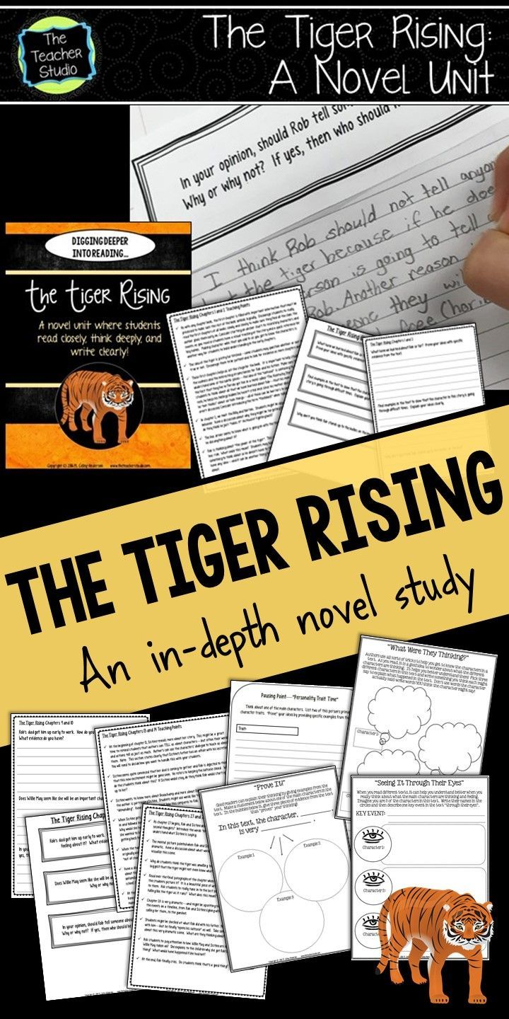 If you are looking for an amazing novel to study with your class...for a book club, a full-class novel study, or even a read aloud--The Tiger Rising can provide you with SO much content...from character analysis to inferential thinking to figurative language--it's truly a gem.  Check out this unit study to help you navigate it with your intermediate readers!