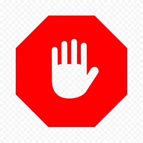 Hd Outline Hand On Red Stop Sign Png Stop Sign Png Outline