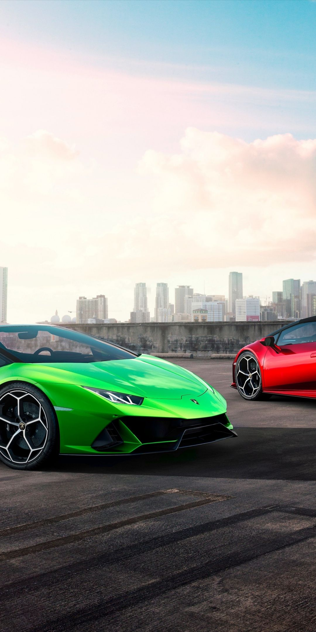 Two Cars Lamborghini Huracan 1080x2160 Wallpaper Lamborghini