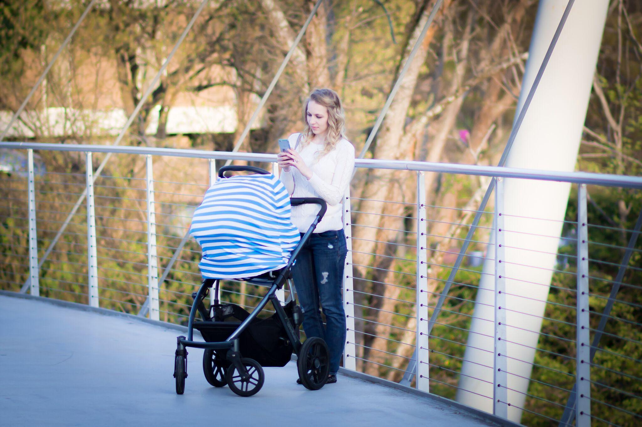 Stretchy Car Seat Cover, Nursing Cover - Multifunctional Cover, Multiuse cover, Shopping cart cover, stroller cover