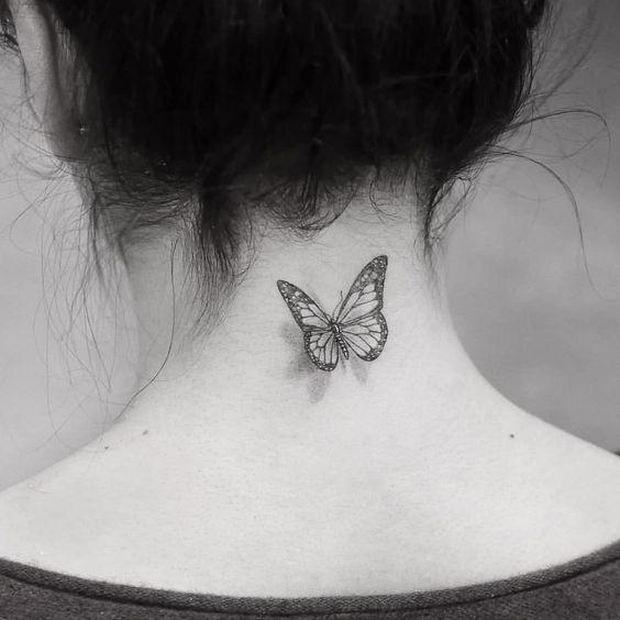 Tattoo Butterfly Tattoo Small Tattoo Back Tattoo Arm Tattoo Meaningful Tattoos Simple Tattoos Sim Neck Tattoos Women Butterfly Tattoo Back Of Neck Tattoo