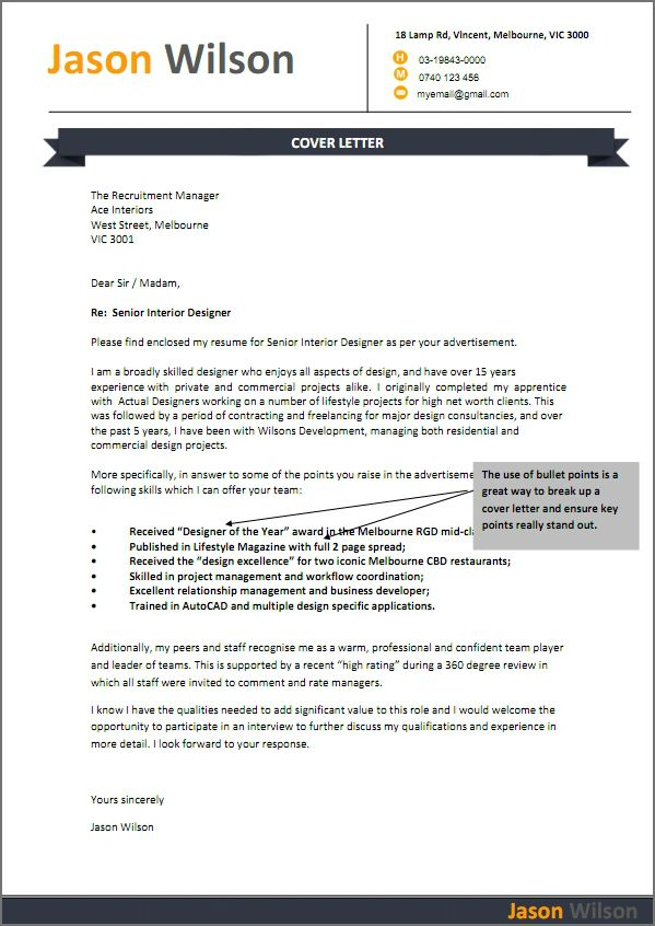 format winning cover letter resume letters templates Home Design - example resumes australia
