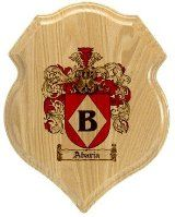 Abaria Coat of Arms Plaque / Family Crest Plaque
