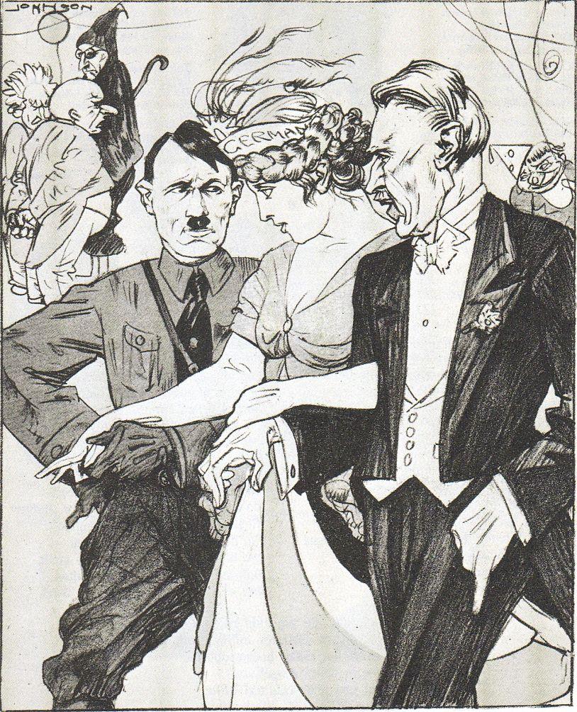 Kladderadatsch, Karneval 1933, Frau Germania nach langer Zeit wieder dabei, 26 Februar 1933.