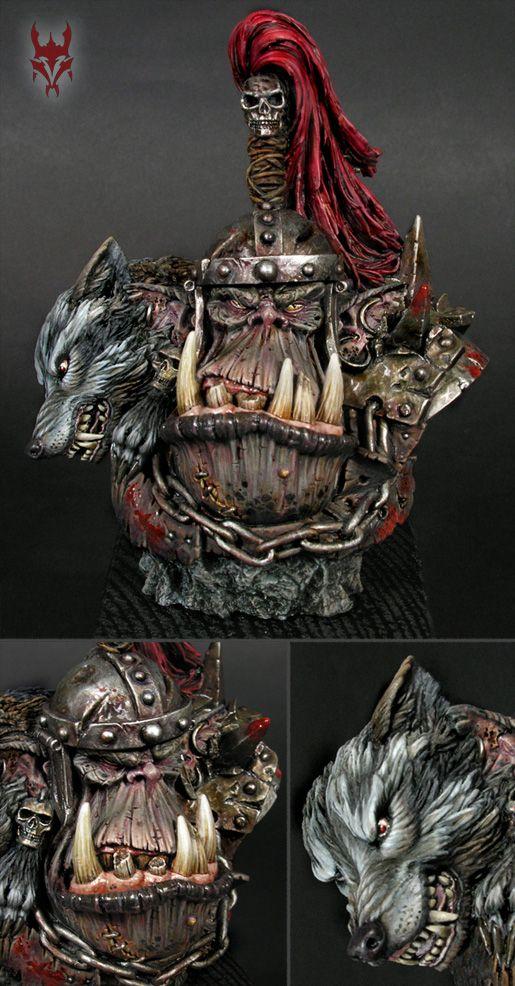 Ork Bust   miniatures 微縮模型   Fantasy miniatures