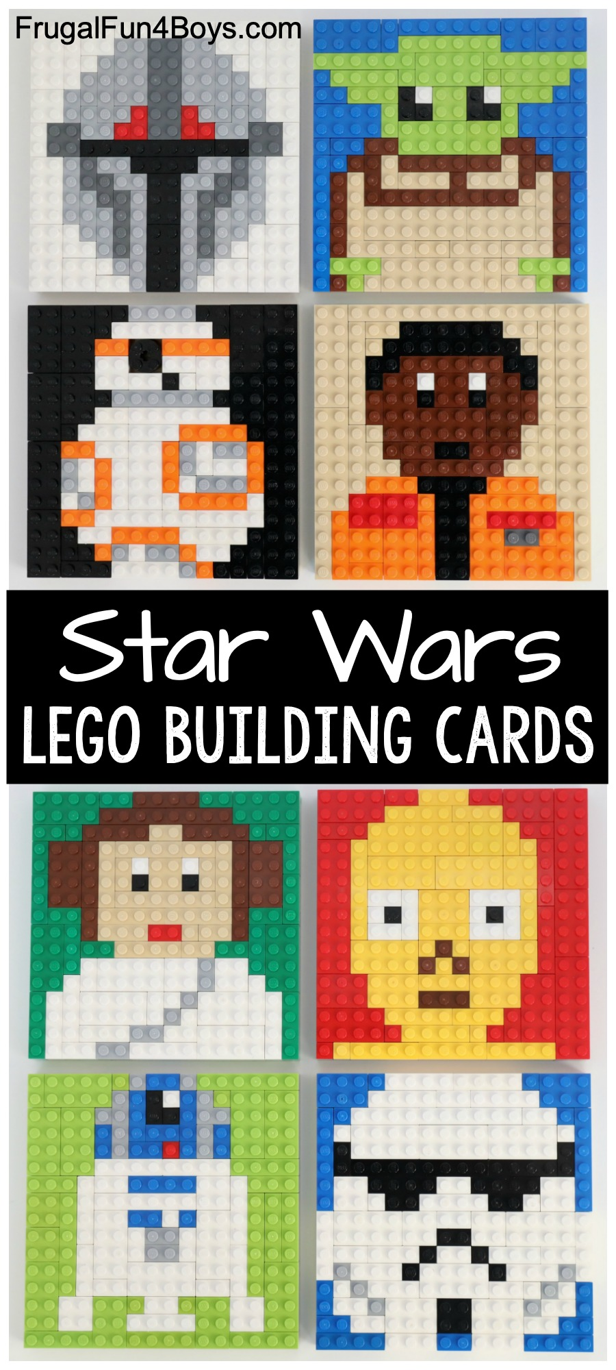 LEGO Star Wars Mosaic Building Cards - Frugal Fun For Boys and Girls