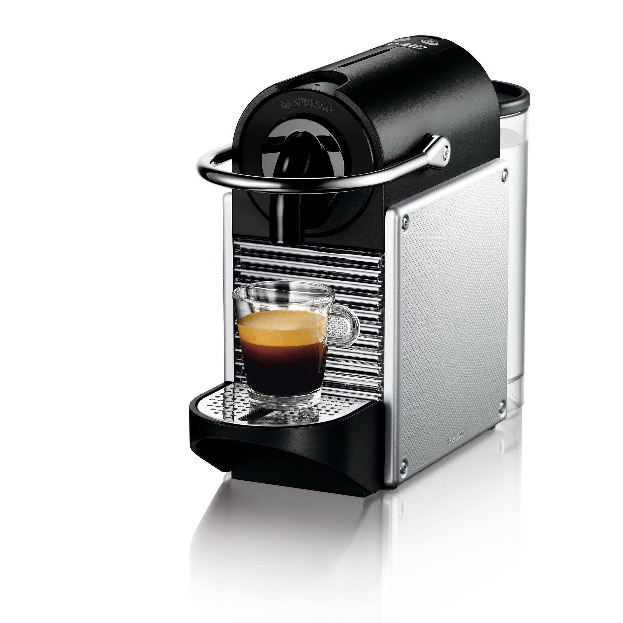 Nespresso Pixie Espresso Machine by De'Longhi Aluminum