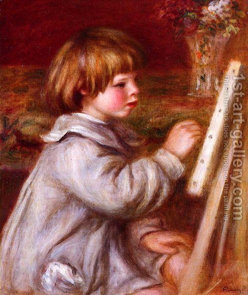Pierre Auguste Renoir:Portrait of Claude Renoir Painting