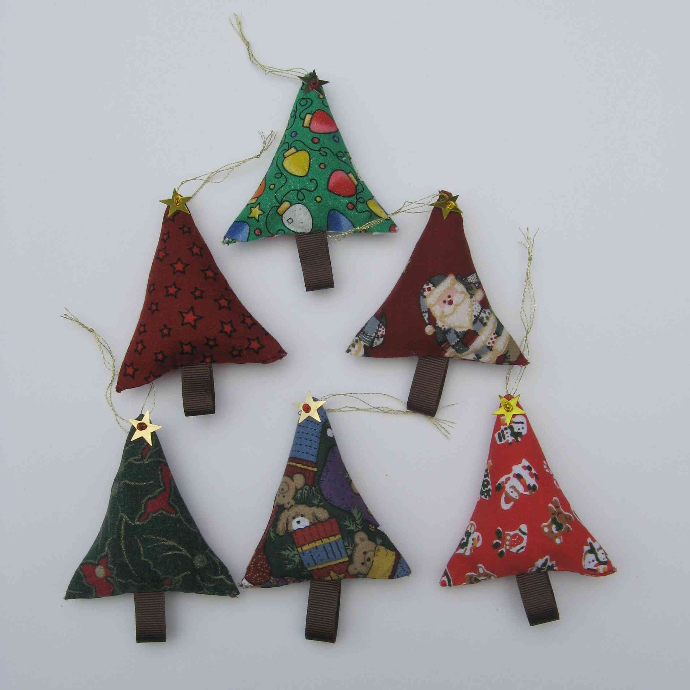Stuffed Christmas Tree Ornaments Fabric Tree Tree Decoration Country Cottage Christmas Christmas Fabric Tree Cool Christmas Trees Christmas Tree Ornaments