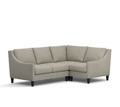 Pasadena Upholstered 3 Piece Sectional With Corner