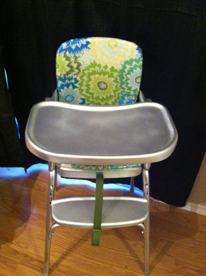 Vintage Cosco Highchair Makeover Recovered The Chair With