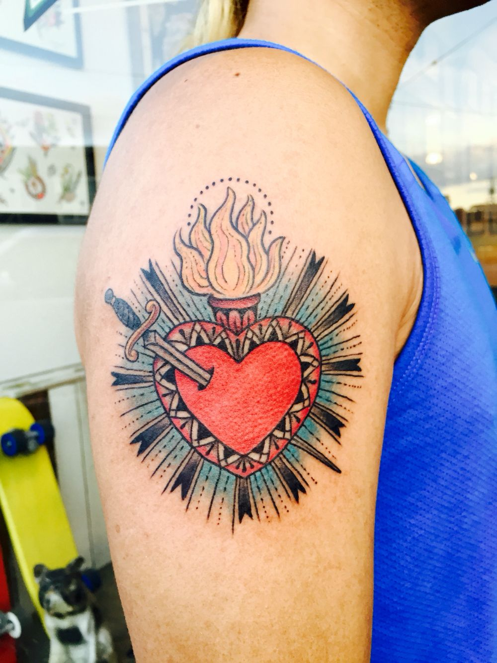 29+ Best Heart on sleeve tattoo pictures image HD