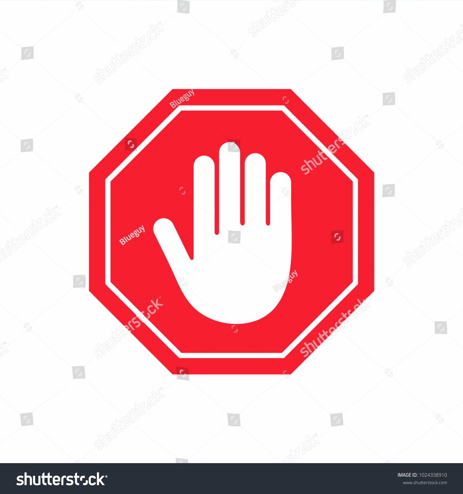Red Stop Sign And Hand Signal Vector Illustration Isolated On Transparent Background Stock I Stop Sign Professional Business Cards Logo Vector Illustration