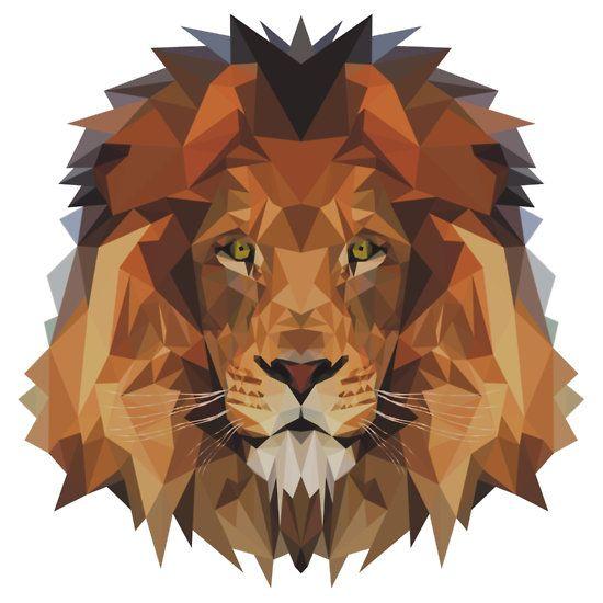 lion sticker by edwardmhz lion g om trique dessin lion et g om trie. Black Bedroom Furniture Sets. Home Design Ideas