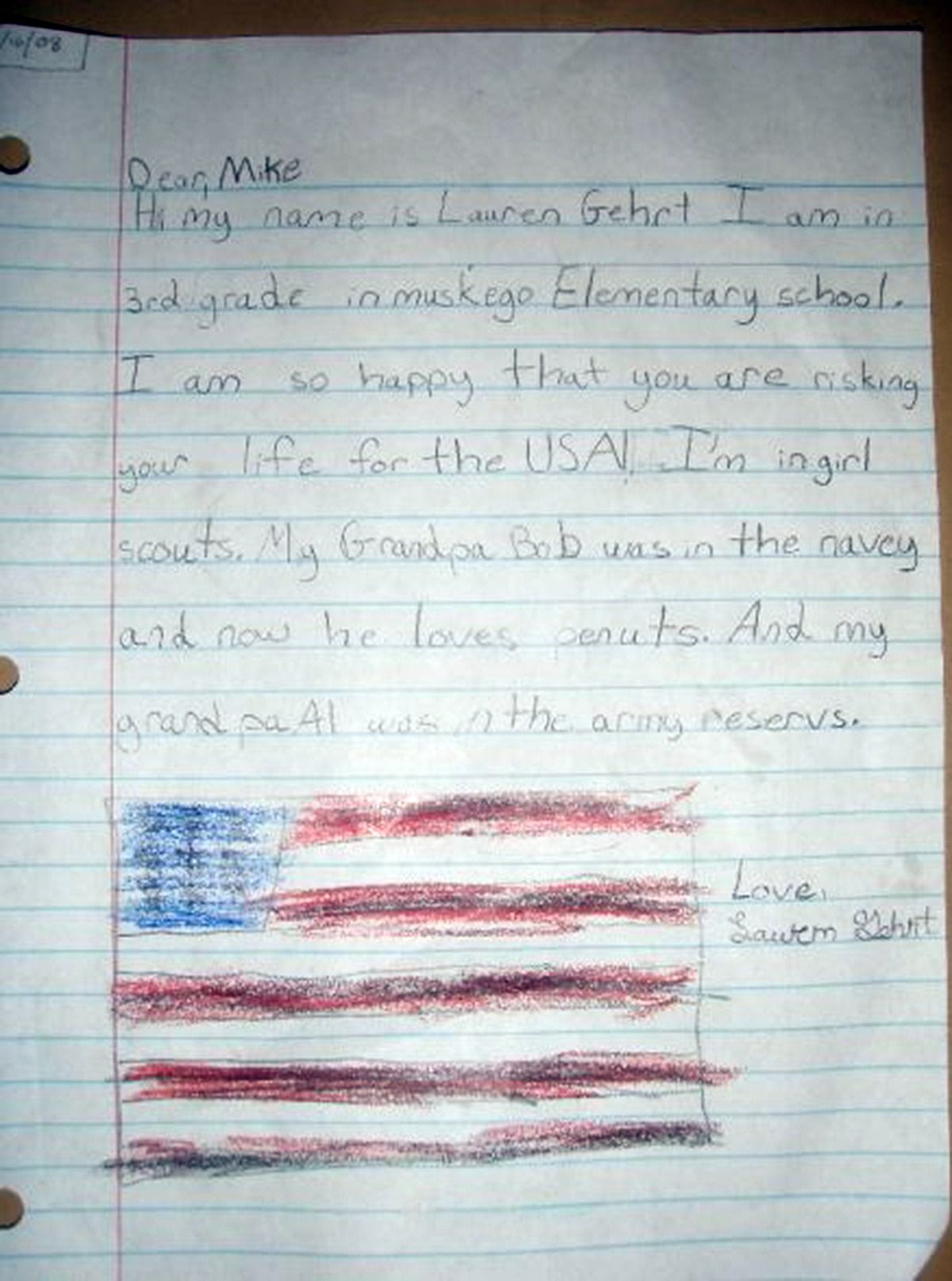 12 cute letters from kids to soldiers | an' so i wrote you a