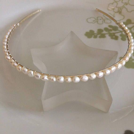Women/'s Crystal Headband Hairband Twist Pearl Hair Band Hoop Accessories Gift