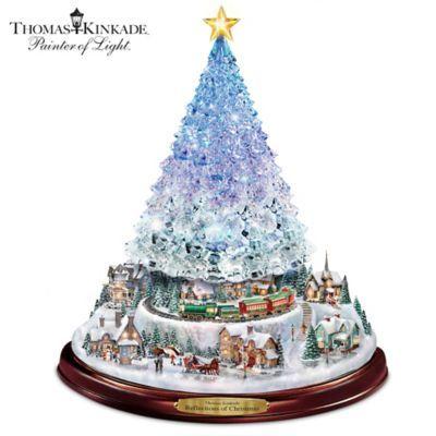 Thomas Kinkade Christmas Tree With Lights Motion And Music Thomas Kinkade Christmas Tabletop Christmas Tree Christmas Tabletop