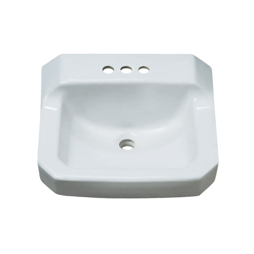 Proflo Pf5414 19 5 8 Wall Mounted Rectangular Bathroom Sink