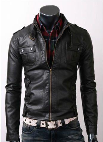 chaqueta de cuero conjunto hombre