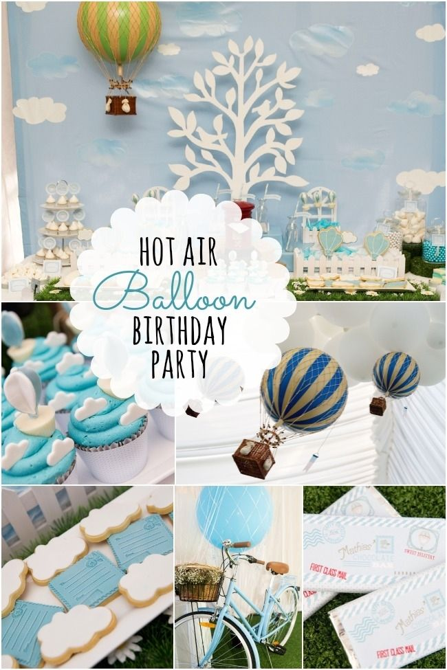 Hot Air Balloon Birthday Party Wwwspaceshipsandlaserbeamscom