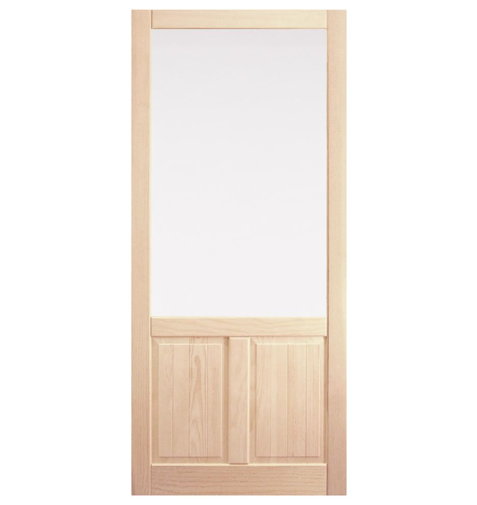 Fir Screen Door With Double Panel Bottom Rejuvenation Screen Door Wooden Screen Door Storm Door