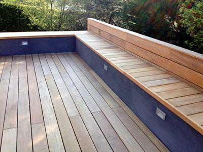 Faire un banc en coffrage avec lames de terrasse bois exotique - construction d une terrasse bois