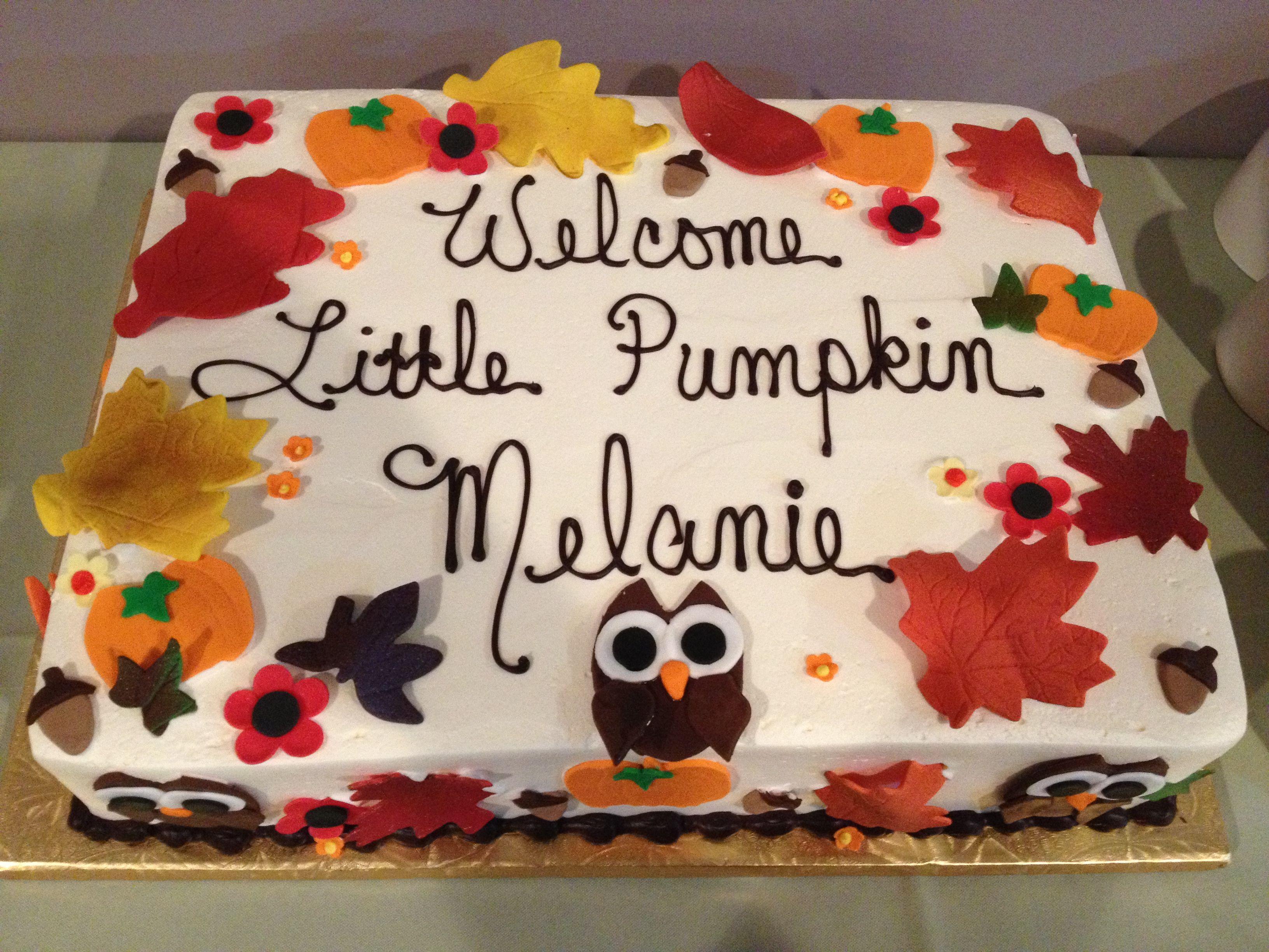 Fall Baby Shower Cake Thanksgiving Baby Shower Baby Shower