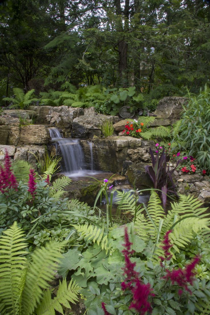 Waterfall created by Aquascape Inc. in St. Charles, IL. # ...