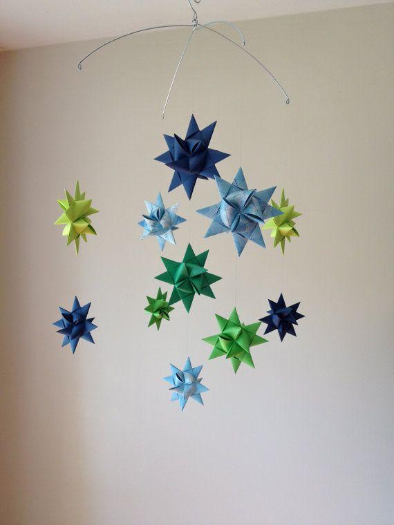 Baby Mobile Hanging Origami Stars Ursa Major Map