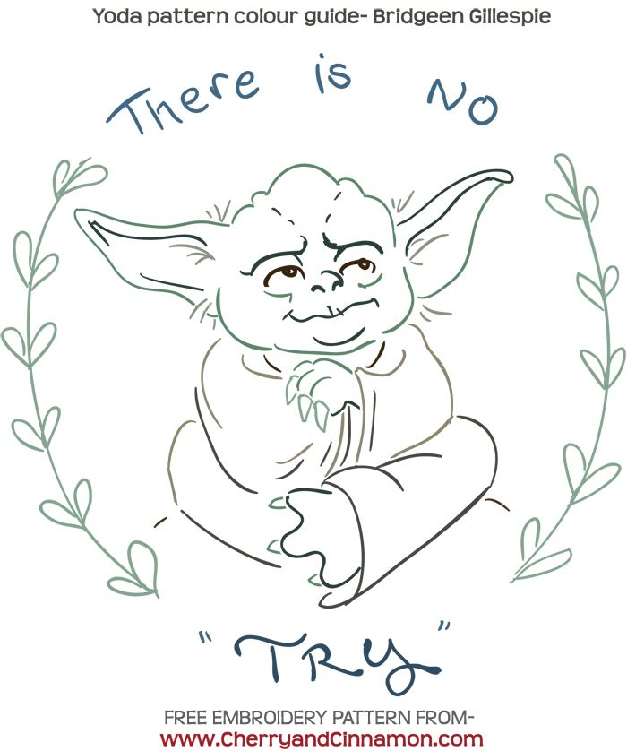 May the th free star wars embroidery pattern by