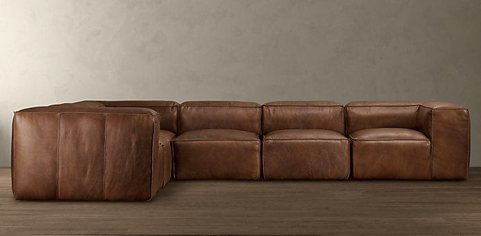 Fulham Leather Sectionals Rh Leather Sectional Quirky