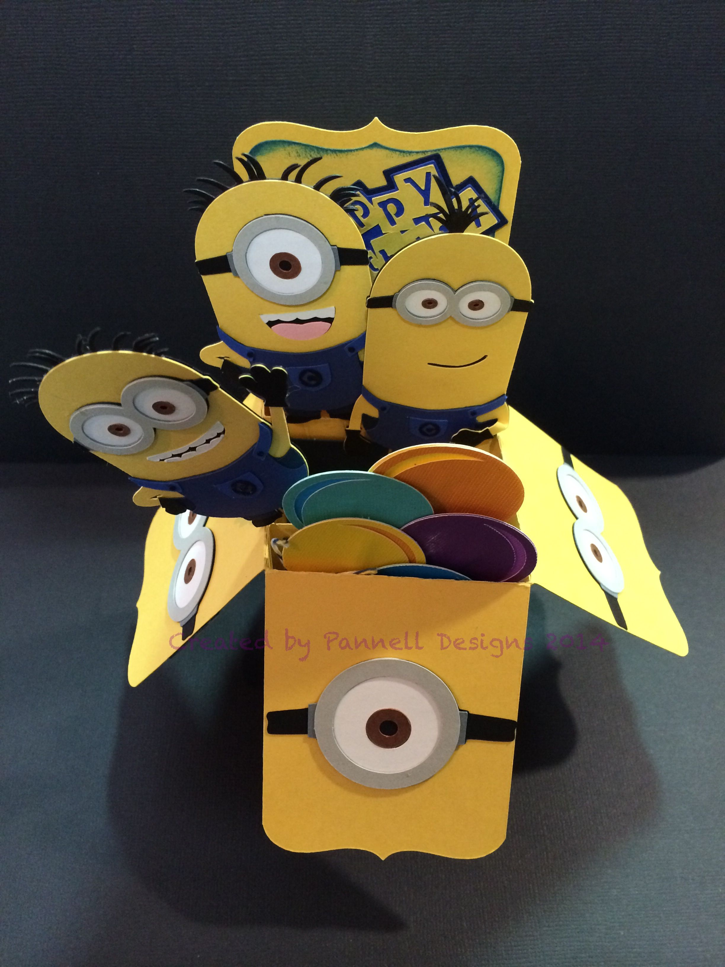 Minion Box Birthday Card Opened Details On Are On My Pannell Design