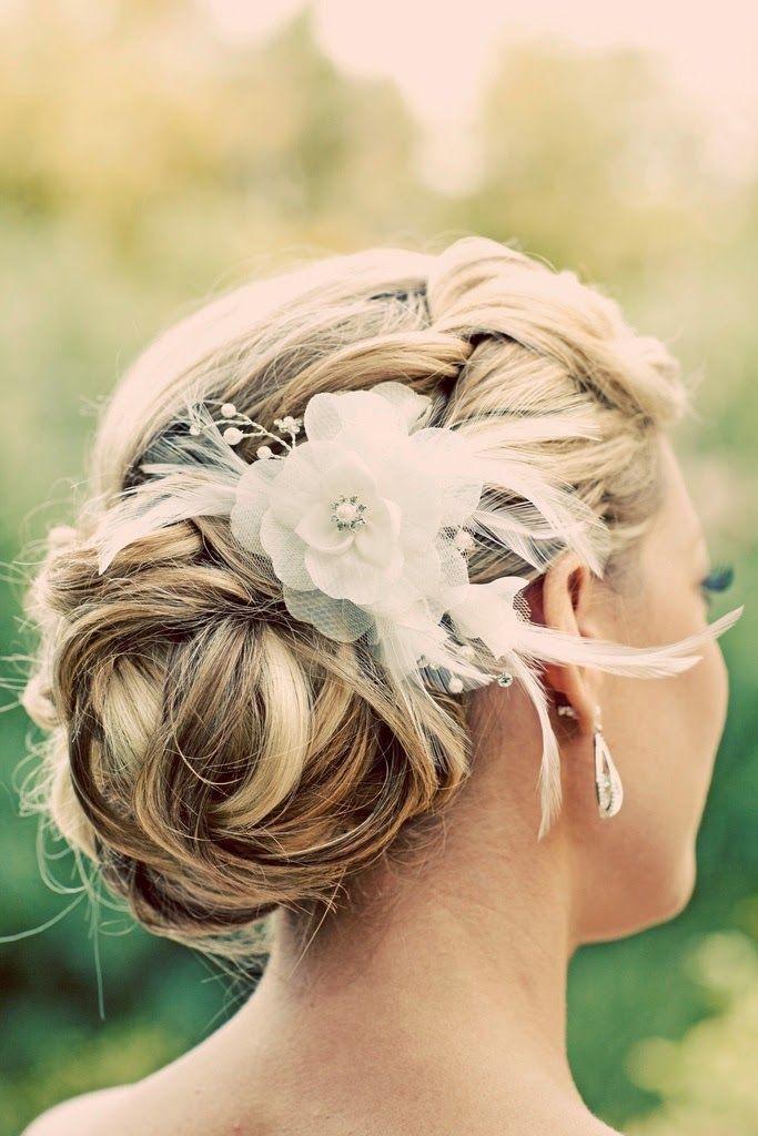 A masterpiece! #bridalhairflowers