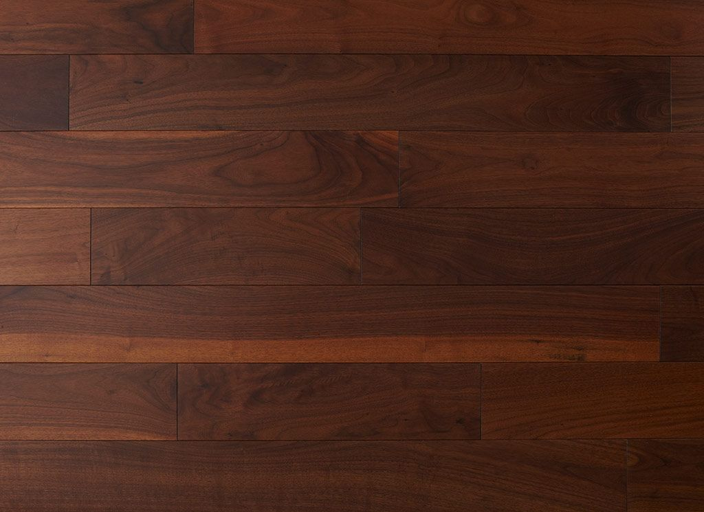 These Walnut Hardwood Floors Are Prefinished To A Dark Brown Color