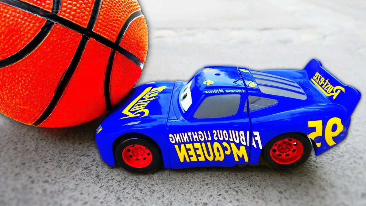 Car 3 toys  Basketball Accident McQueen Cars  Toys w Nursery Rhymes Song