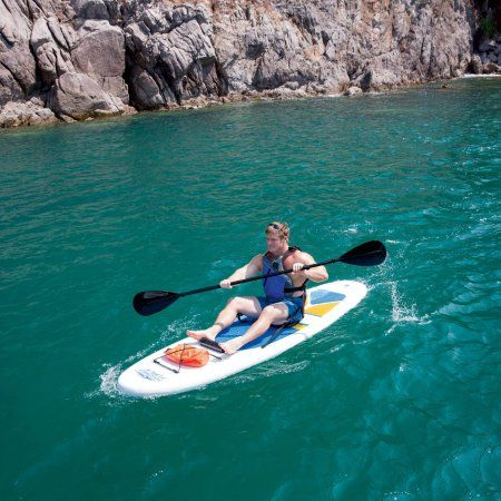 """Hydro-Force Bestway HydroWave 10'4"""" White Cap 2-in-1 Stand-Up Paddleboard and Kayak - Walmart.com"""