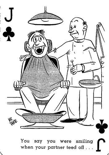 cool Tee-Up Cartoon Playing Card