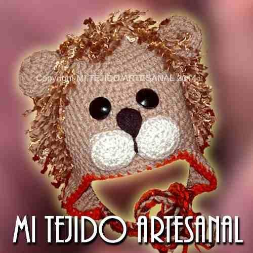 Gorro Tejido Al Crochet Rey Leon Para Bebés Y Niños - $ 150,00 en ...