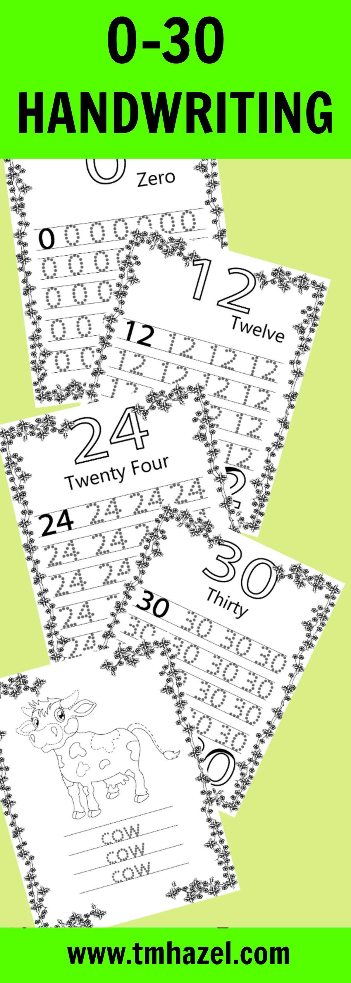 0 30 Handwriting Numbers Handwriting Numberstracing