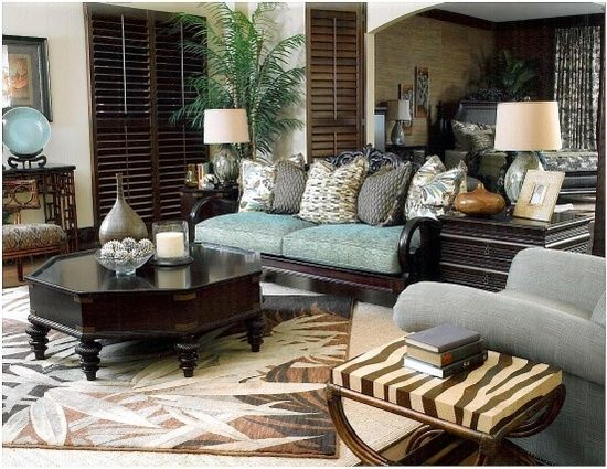 British Colonial Style Tommy Bahama Colonial Living Room