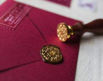 Marsala Vineyard Wedding Invitation, Burgundy and Gold Sealing Wax Invitation Set, Wine Gold Invite, Monogram Invitations, Laurel Invite, -    Edit Listing  - Etsy