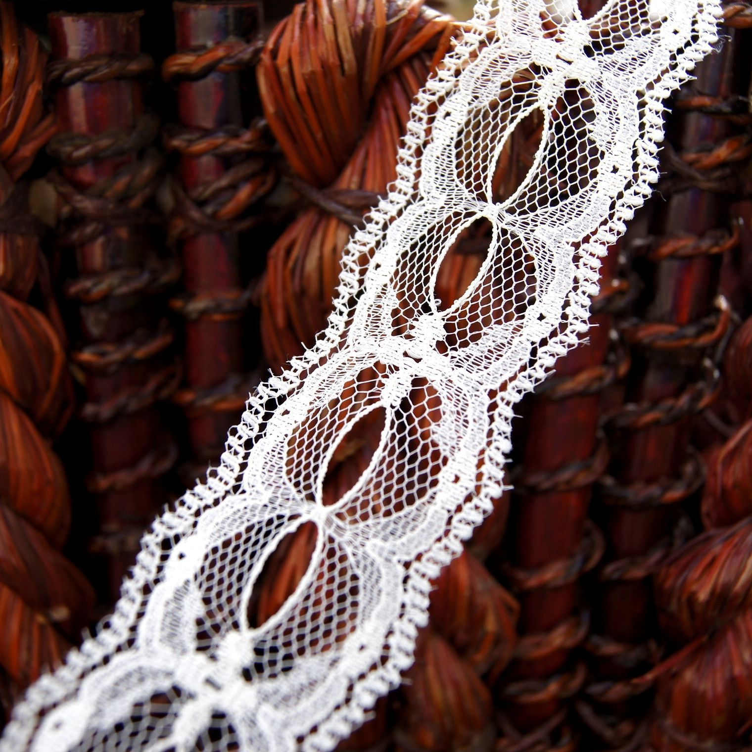 "Off White Beading Galloon Lace Trim 1¼"" wide 