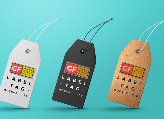 Label Tag PSD preview
