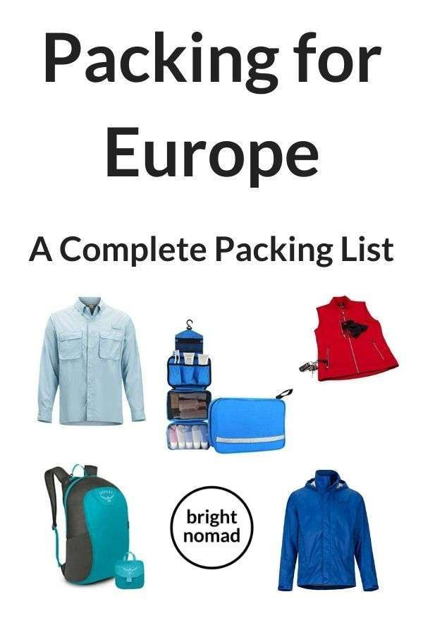 Packing List for Europe - Everything you need to pack for a European trip - packing tips and a complete packing list   #packinglist #pacingtips #packinghacks #vacation #travel #holiday #europe #fall #summer #winter #spring #outfits #fashion #luggage #backpack #essentials #packing #howto #pack #travelblog #travelblogger